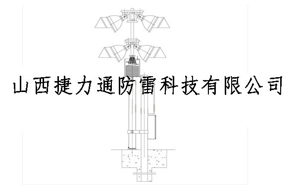 球场升降灯杆(气动伸缩式)