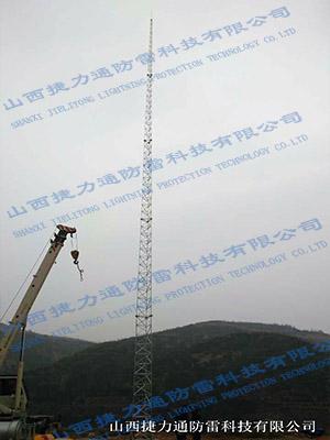 永和天然气30米避雷塔安装工程