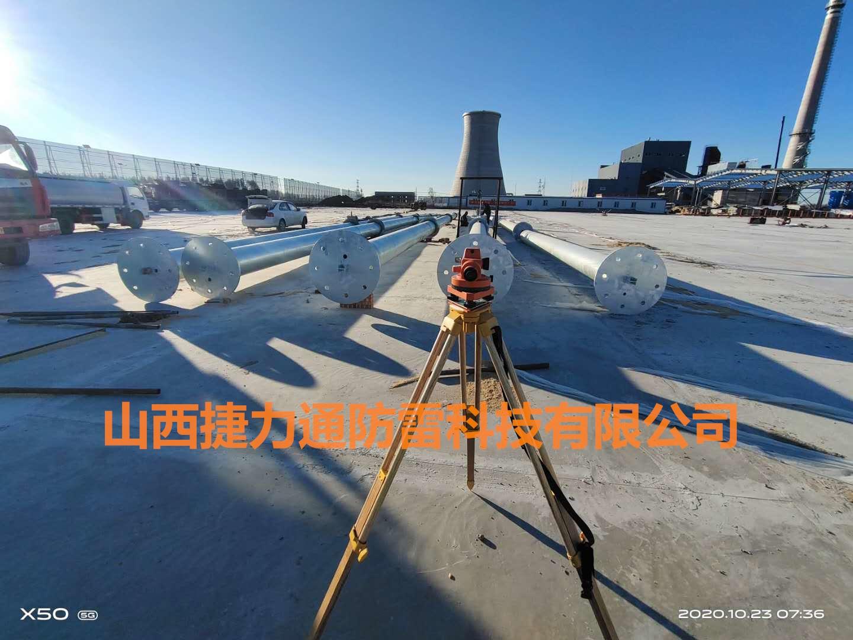 辽宁松原某集团公司GH系列环形钢管杆避雷塔安装工程