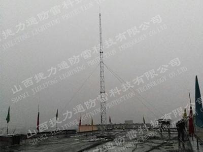 太原西山水泥厂13米避雷塔安装工程