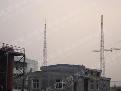 阳泉力宇保安电厂3座GFW1-9避雷线塔安装项目