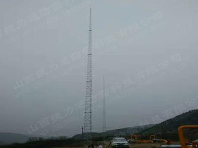 钢结构35米四座GFW1-7避雷塔安装工程